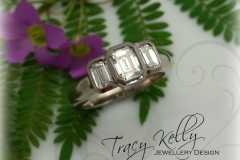 Emerald Cut Triple