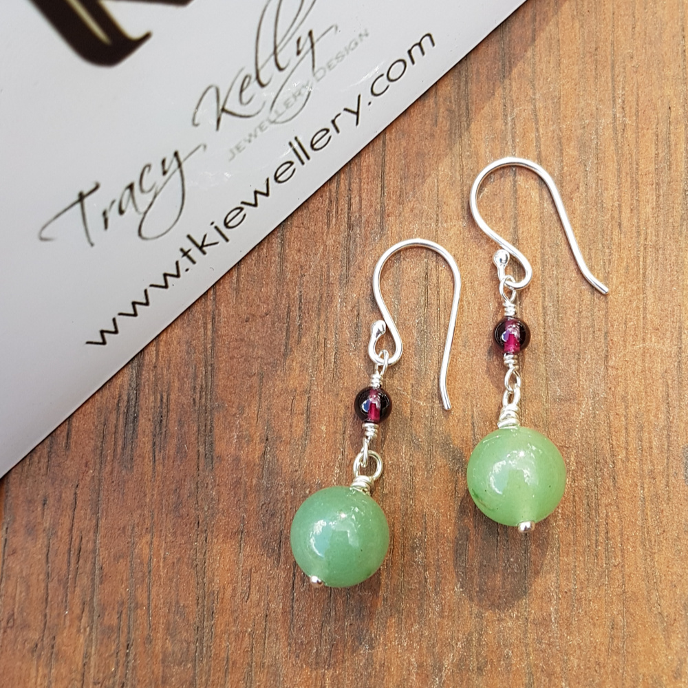 Natural Gemstone Earrings - Sterling Silver