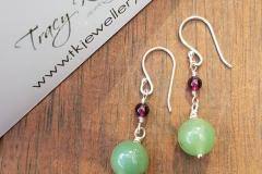 Natural Gemstone Earrings - Sterling Silver