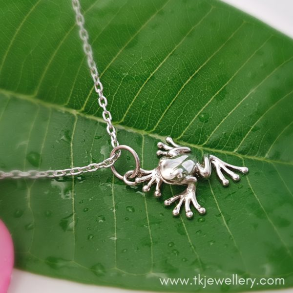 Sterling Silver Tree Frog Pendant