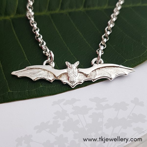 Sterling silver bat